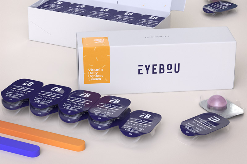 Eyebou vitamin daily contact lenses
